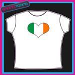 IRELAND IRISH EMBLEM FLAG HEART SHAPED I LOVE TSHIRT
